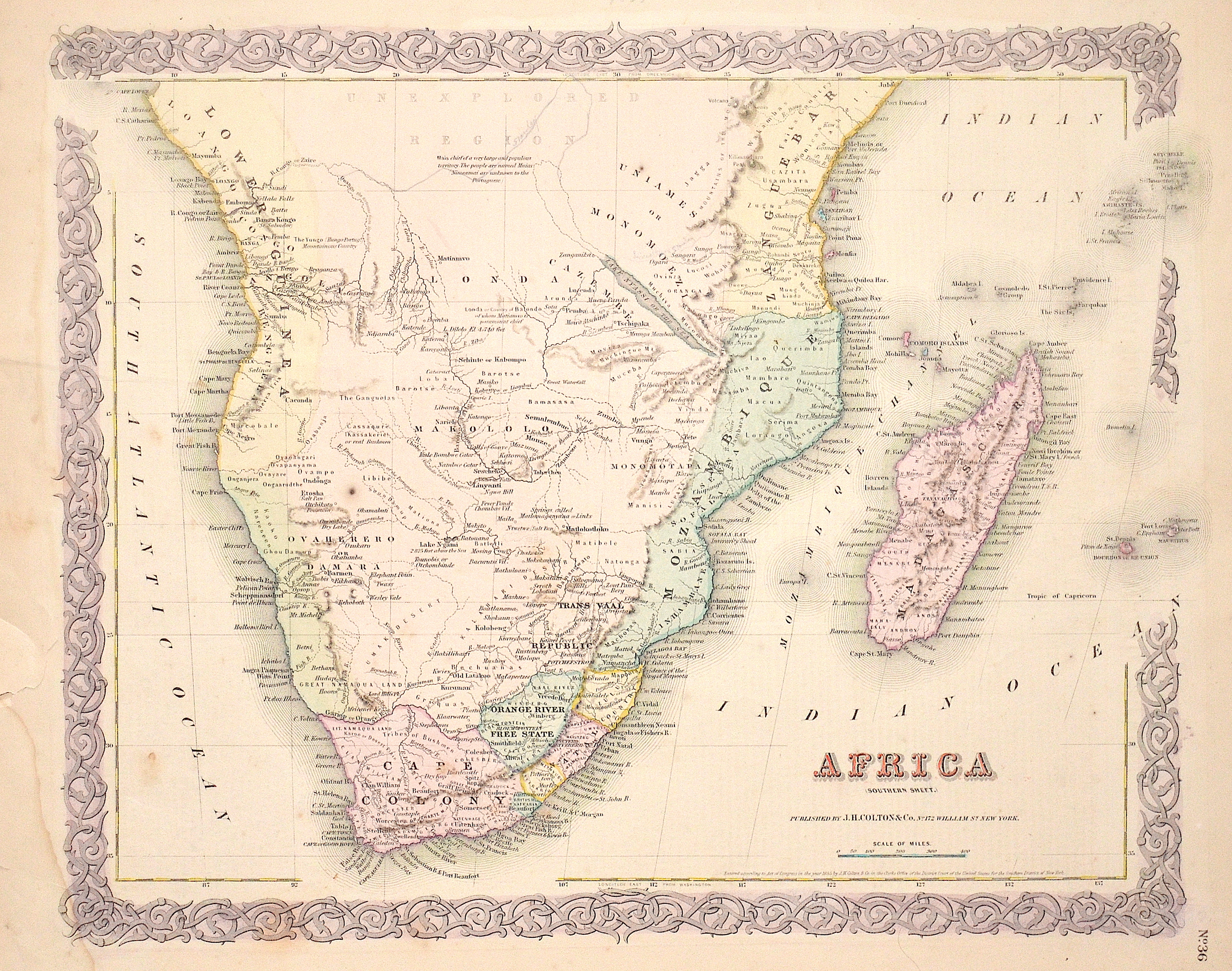 Colton/Hutchins  Africa (Sothern Sheet.)