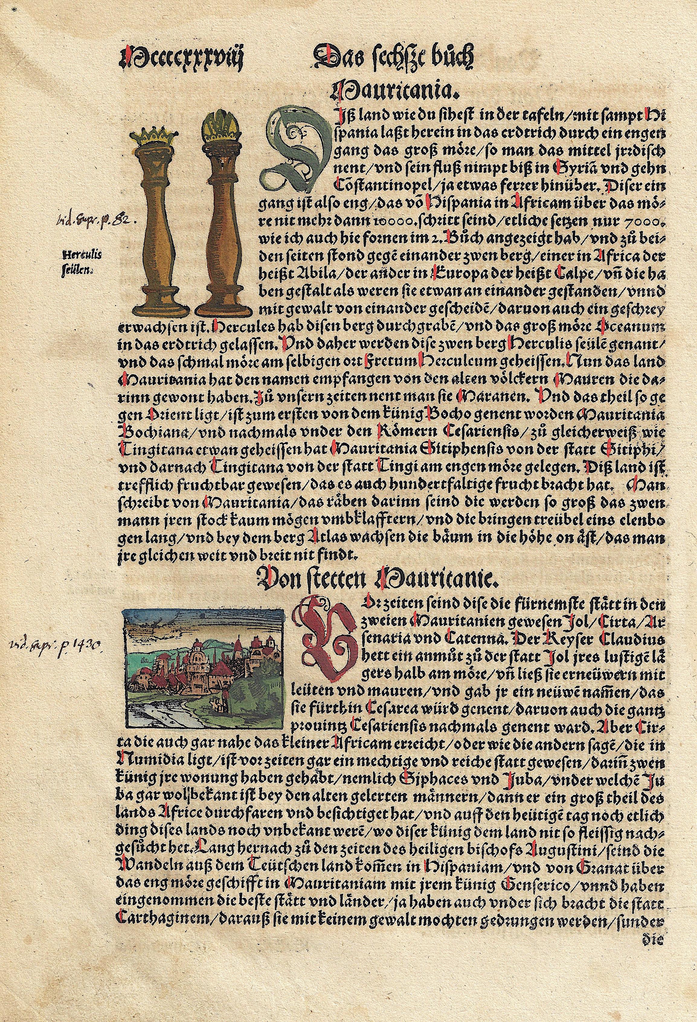 Münster Sebastian Von stetten Mauritanie. / von den Löwen und ihrer natur.