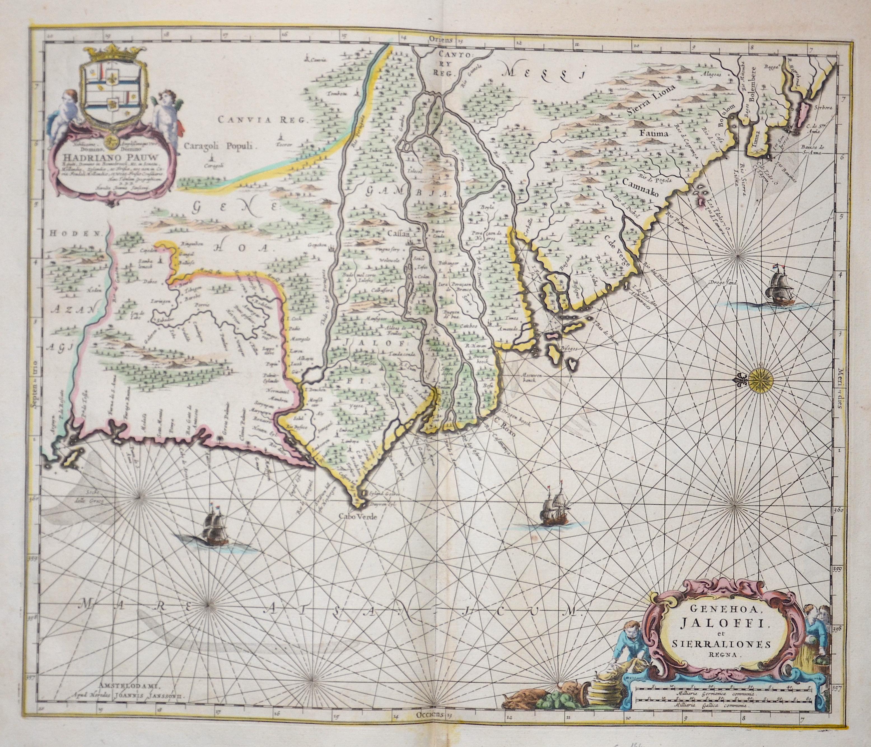 Janssonius  Genehoa, Jaloffi, et Sierraliones Regna.