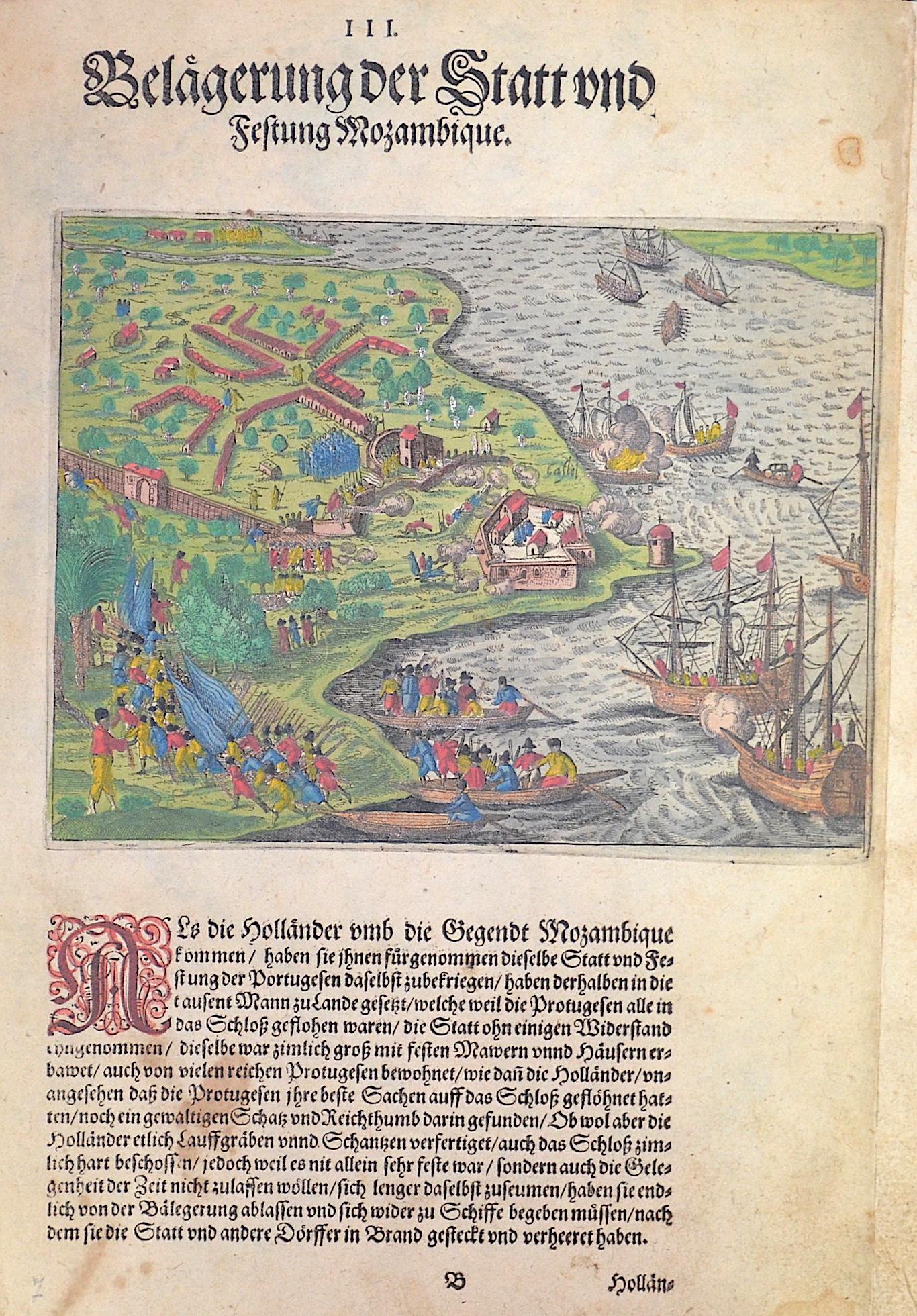 Bry, de  III. Belägerung der Statt und Festung Mozambique.