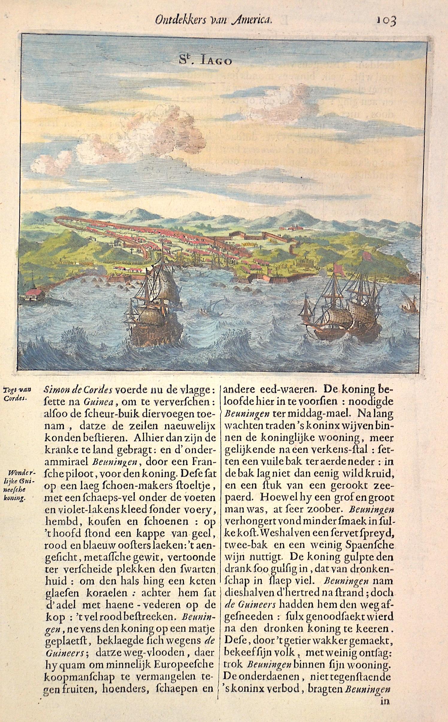 Montanus  Ontdekkers van America. 103 / St. Jago