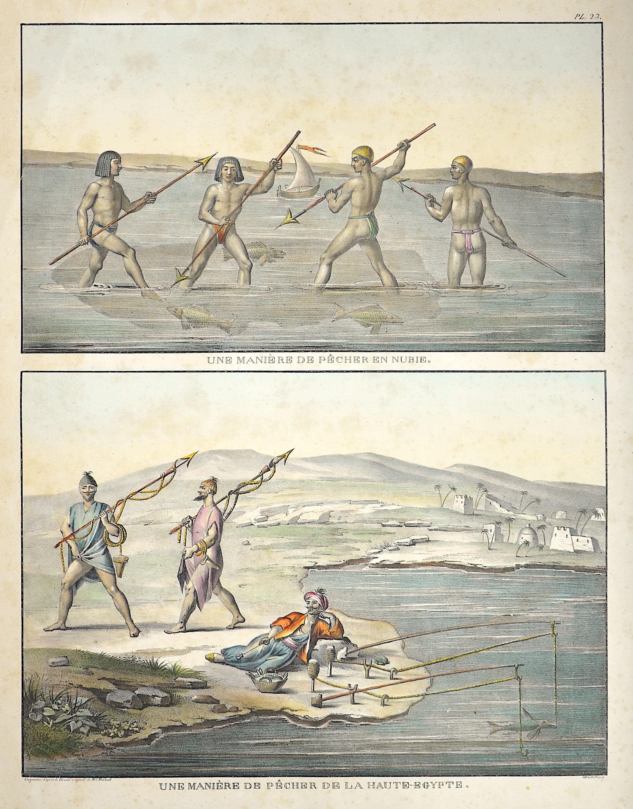 Roissy  Une Manière de pecher en Nubie. / Une Manière de pecher de la Haute-Egypte.