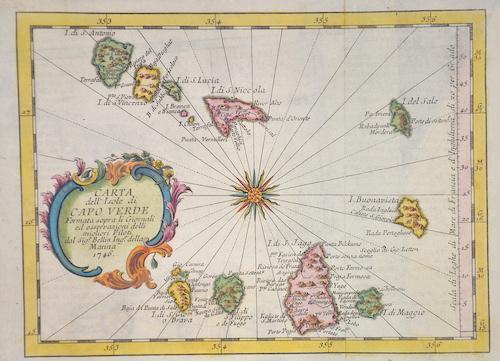 Bellin  Carta dell´Isole di Capoverde