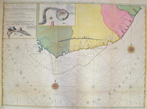 Mortier  Carte particuliere des costes du Cap de Bonne Esperance