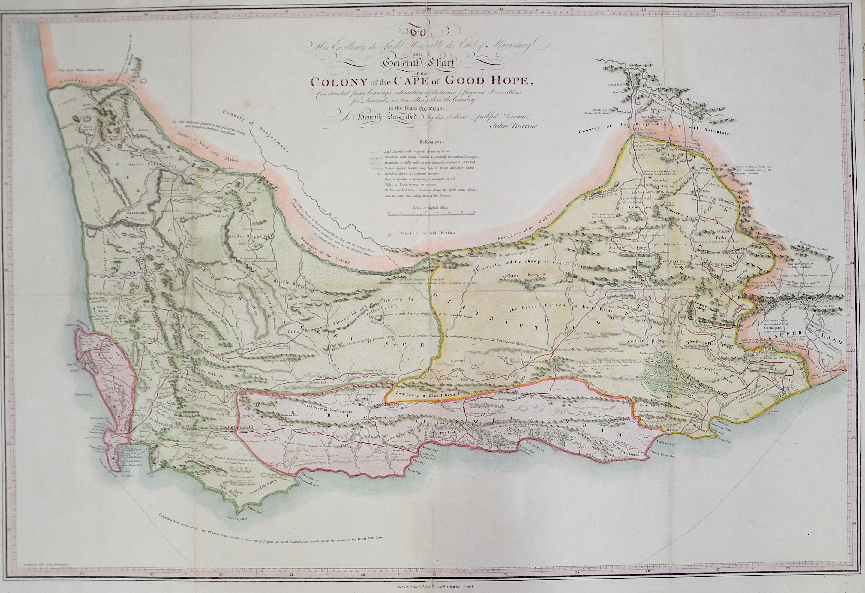Barrow  General Chart colony of the cape of good hope