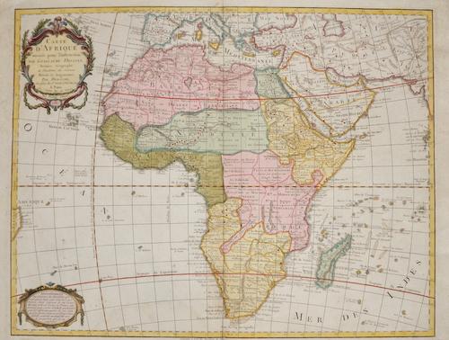 Dezauche/de l´Isle, J.A. / G. Carte de Afrique