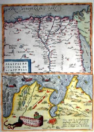 Ortelius  Aegypti recentior descriptio/ Carthaginis celeberrini sinus typus
