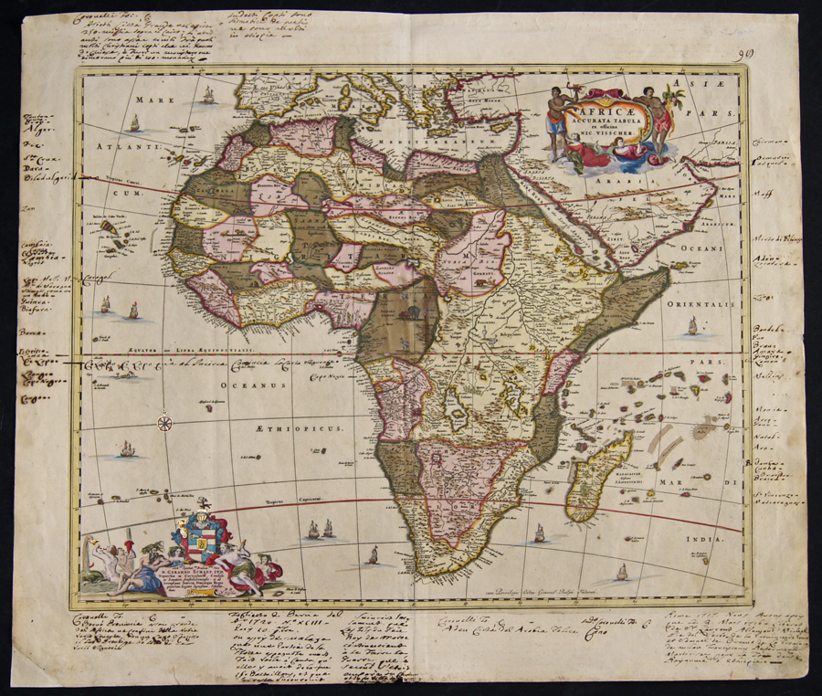 Visscher Nicolas Africae accurata tabula ex officina