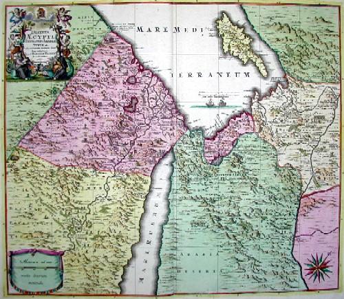 Seutter  Deserta Aegypti, Thebaidis, Arabiae, Syriae ect……