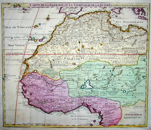 L´Isle, de /Covens & Mortier Guillaume Carte de la Barbarie le la Nigritie et de la Guinée