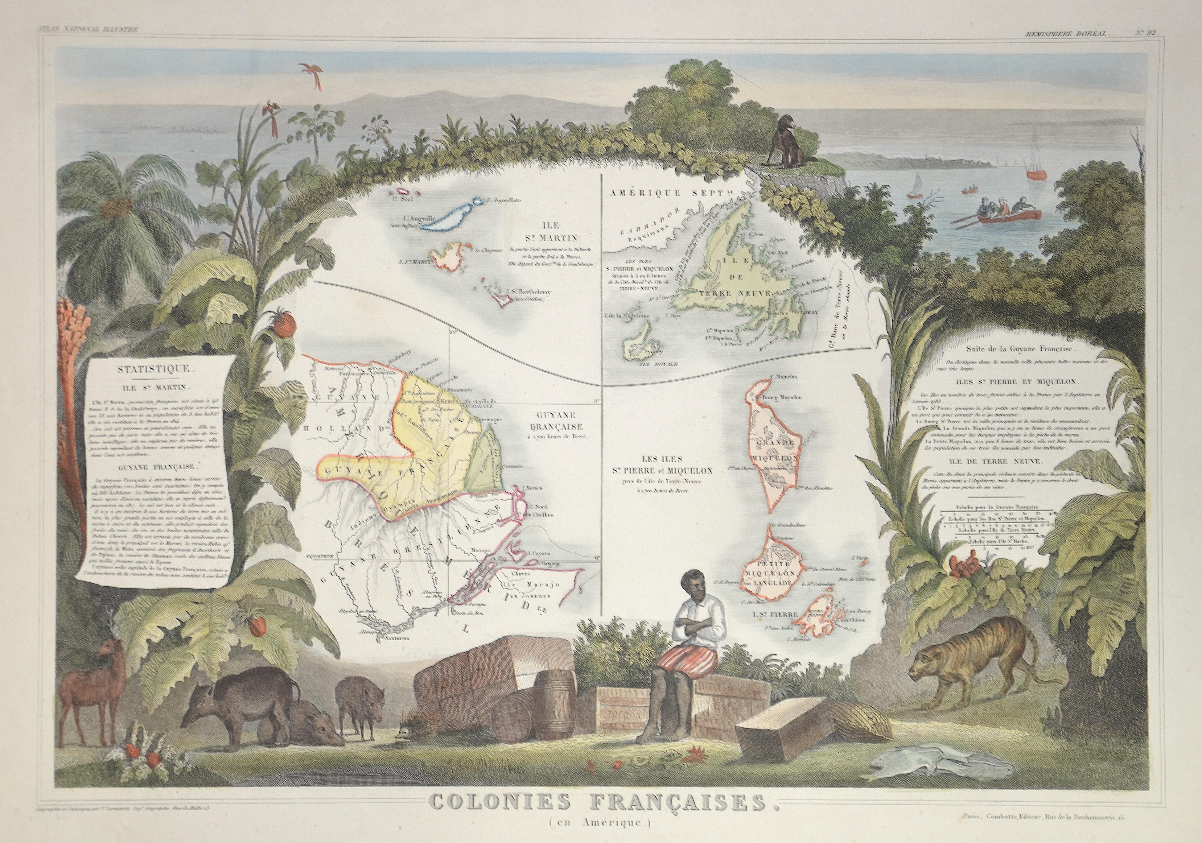 Lemercier / Levasseur  Colonies francaise ( en Amérique)