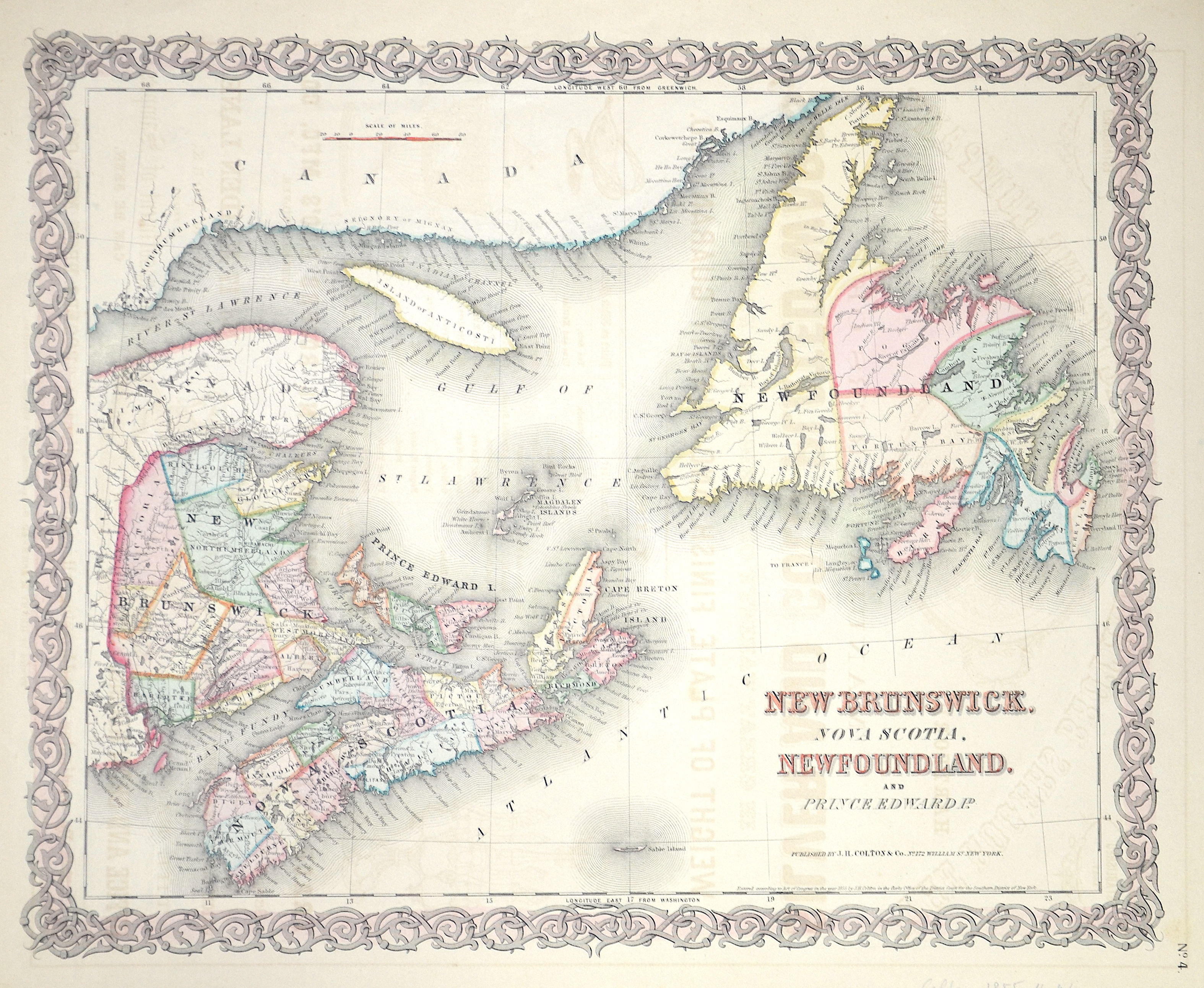 Colton/Hutchins  New Brunswick Nova Scotia , Newfoundland and Prince Edward Id.