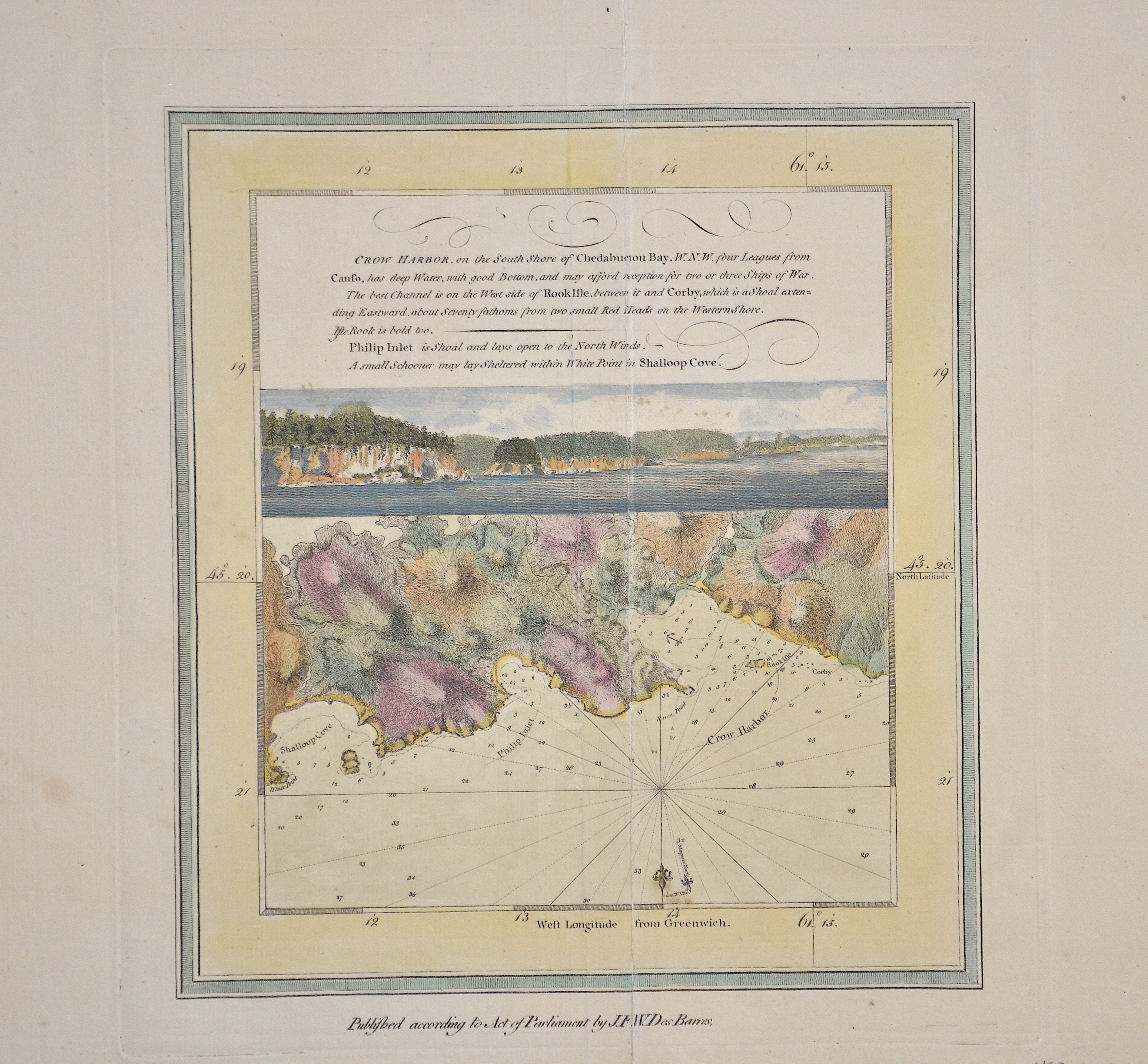 Barres de  Crow Harbor, on the South Shore of Chedabuctou Bay. W. N. W. four Leagues from…