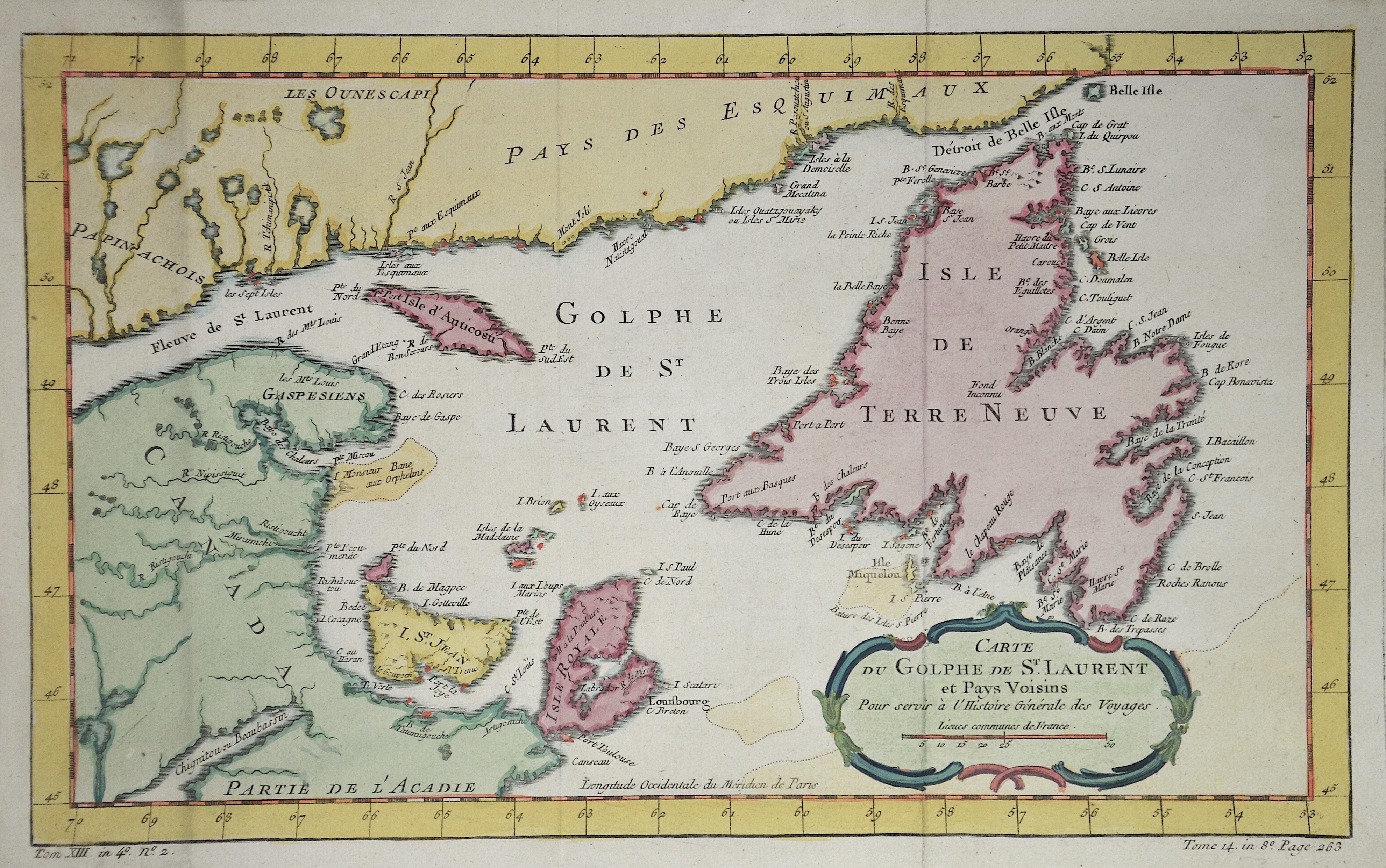 Bellin Jacques Nicolas Carte du Golphe de St. Laurent et Pays voisins