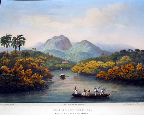 Engelmann  Rio Jnhomerin, dans la baye de Rio de Janeiro