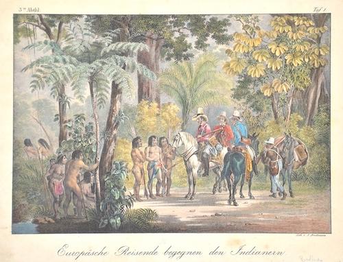 Brodtmann Karl Joseph Europäsche Reisende begegnen den Indianern