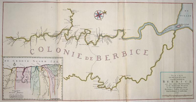 Ottens Josua und Renier Nieuwe gemeten Kaart van de Colonie de Berbice met der zelver Plantagien en de Namen der Bezitters in Het Ligt gebragt door Reinier & Josua Ottens…