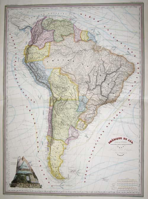 Dyonnet  Amerique du Sud. Dressee par A. H. Dufour, ..