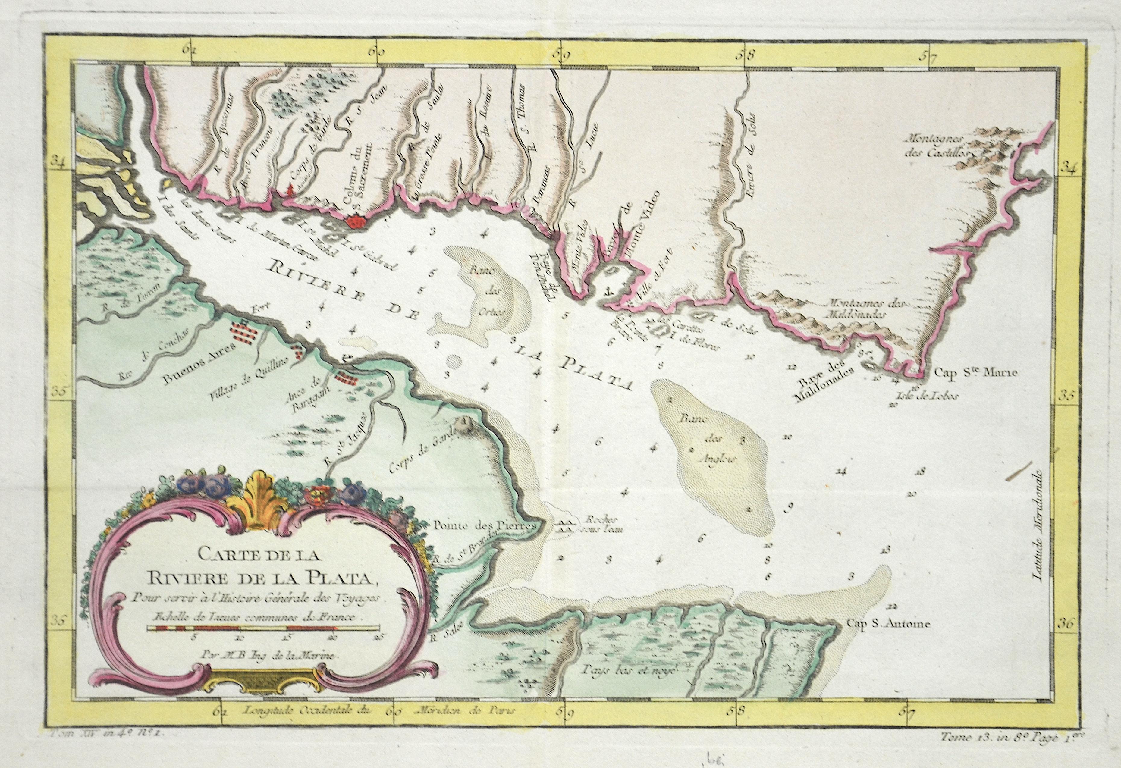 Bellin Jacques Nicolas Carte de la Riviere de la Plata,…