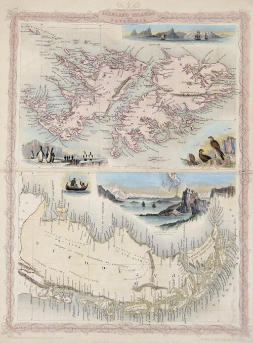 Tallis  Falkland Islands and Patagonia.