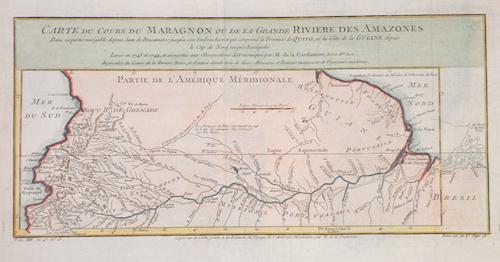 Bellin  Carte du Cours du Maragnon ou de la Grande Riviere des Amazones