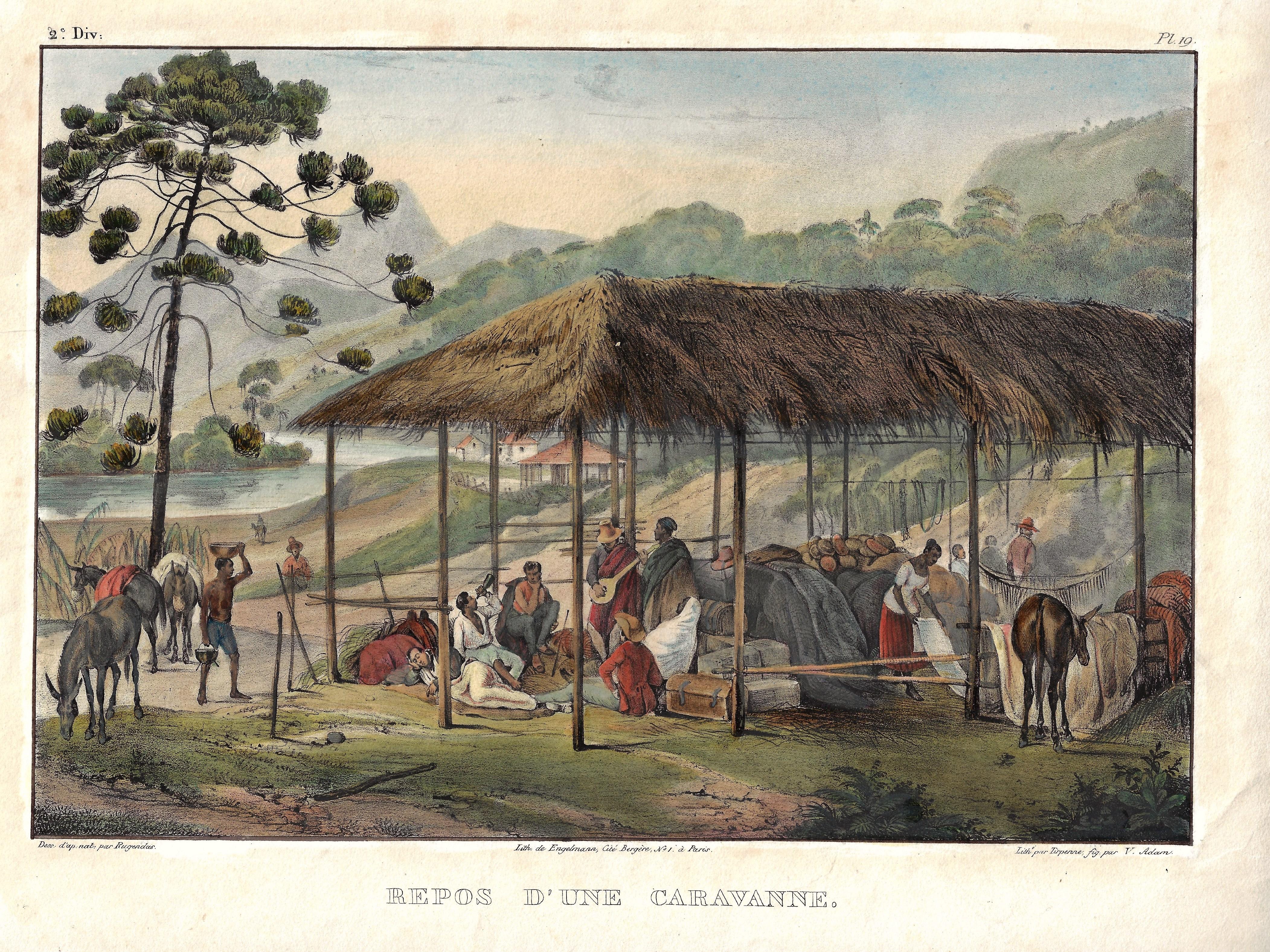 Engelmann  Repos d'une Caravanne.