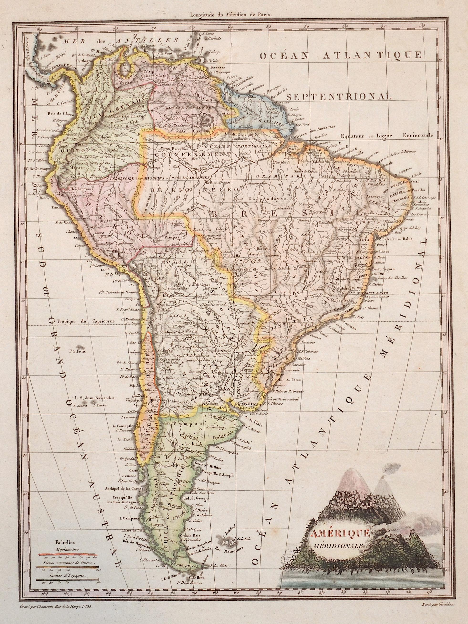 Giraldon  Amérique Méridionale