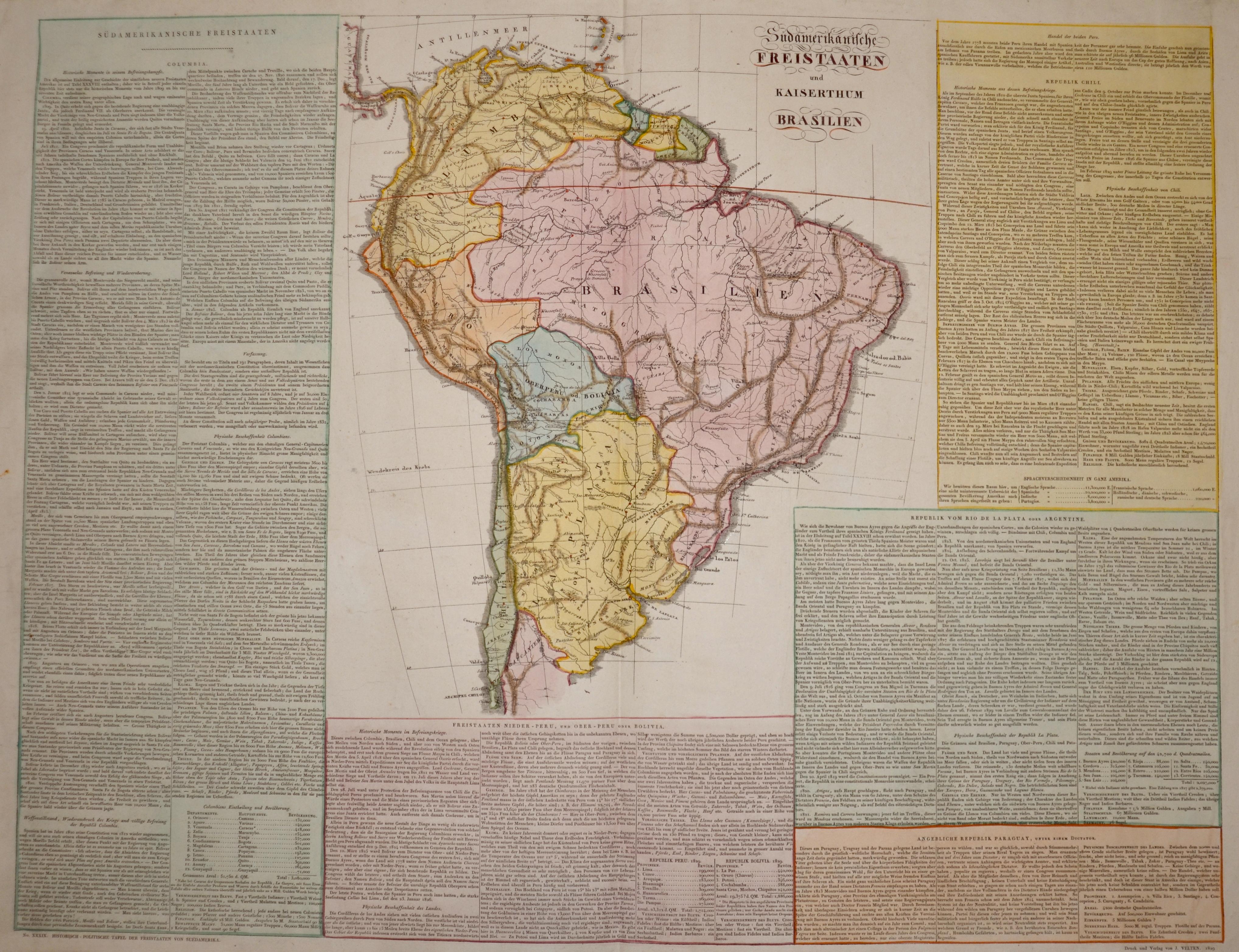 Velten I. Südamerikanische Freistaaten und Kaiserthum Brasilien