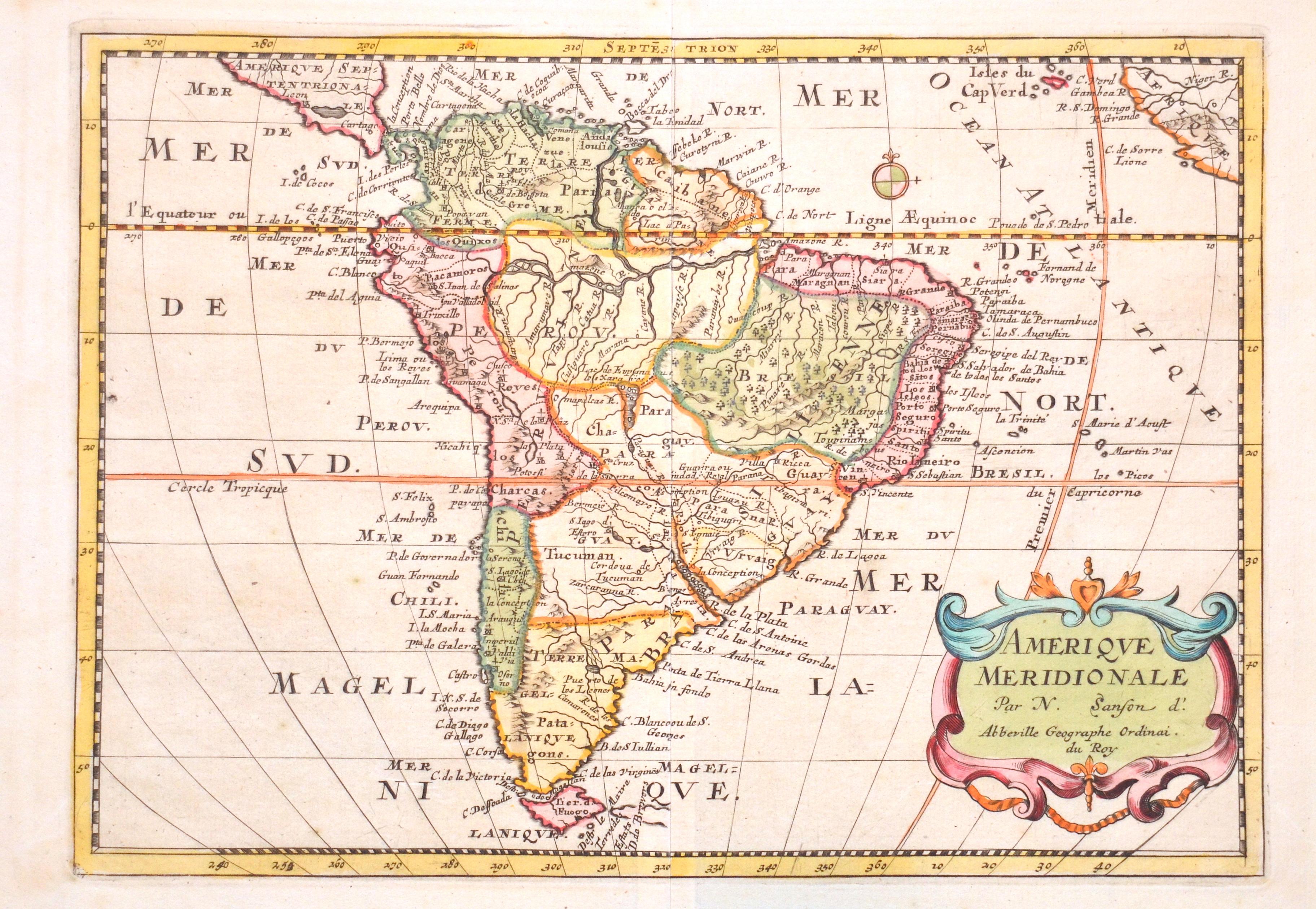 Sanson Nicolas Amerique Meridionale