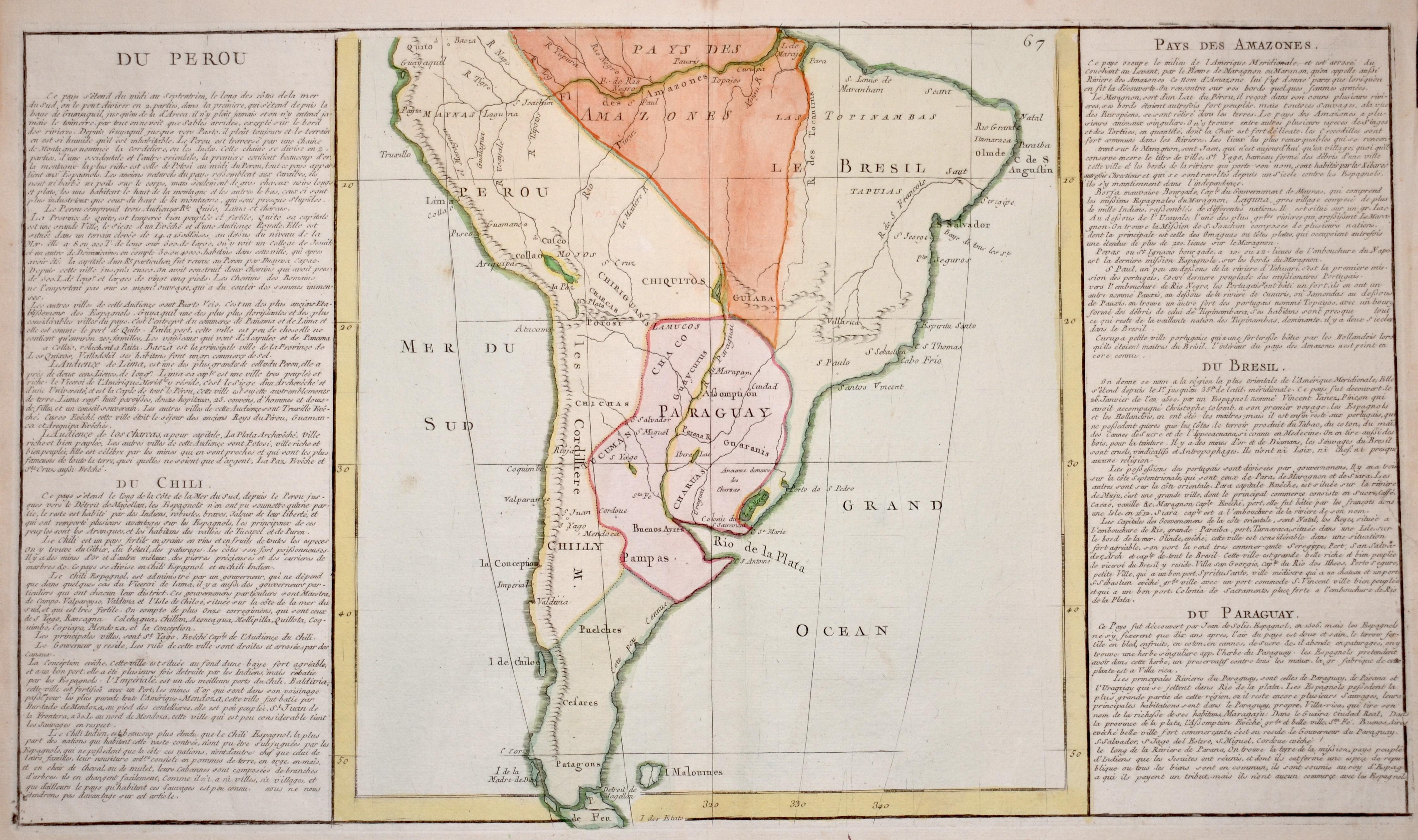 Anonymus  Du Perou, Du Chili, Pays des Amazones. Du Bresil. Du Paraguay.