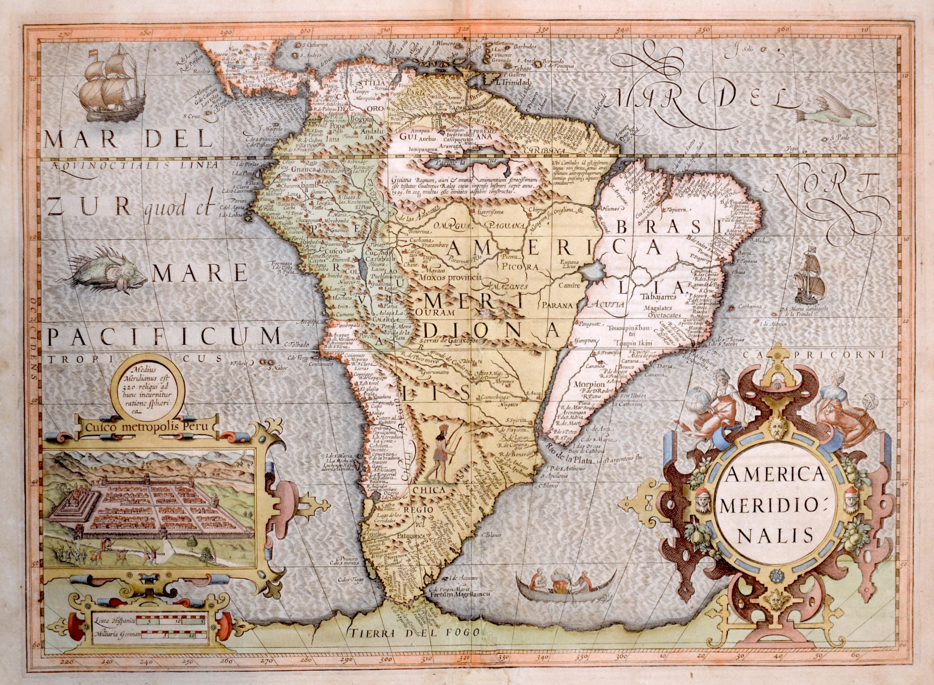 Mercator  America Meridionalis
