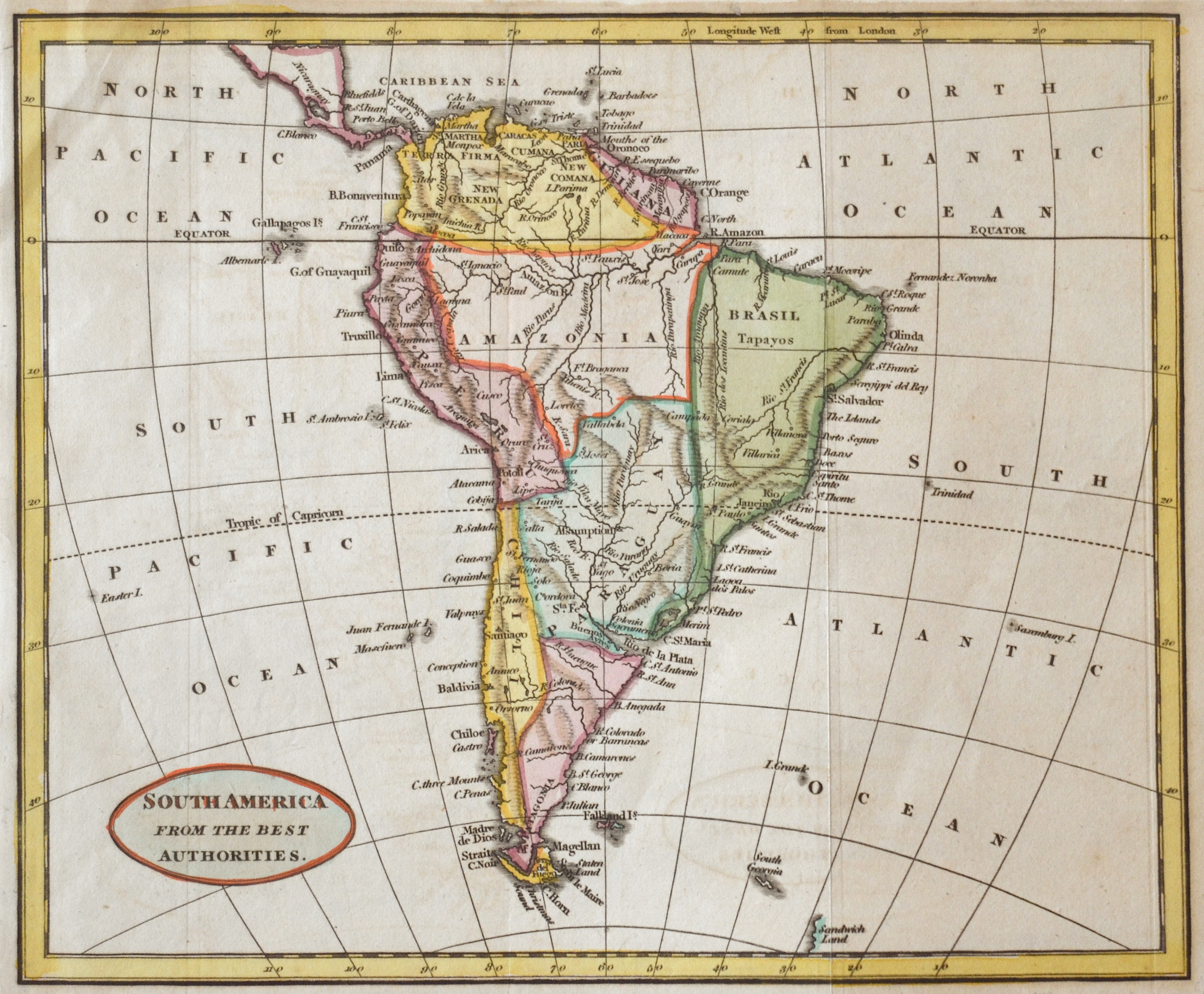 Anonymus  South America from the best Authorities.