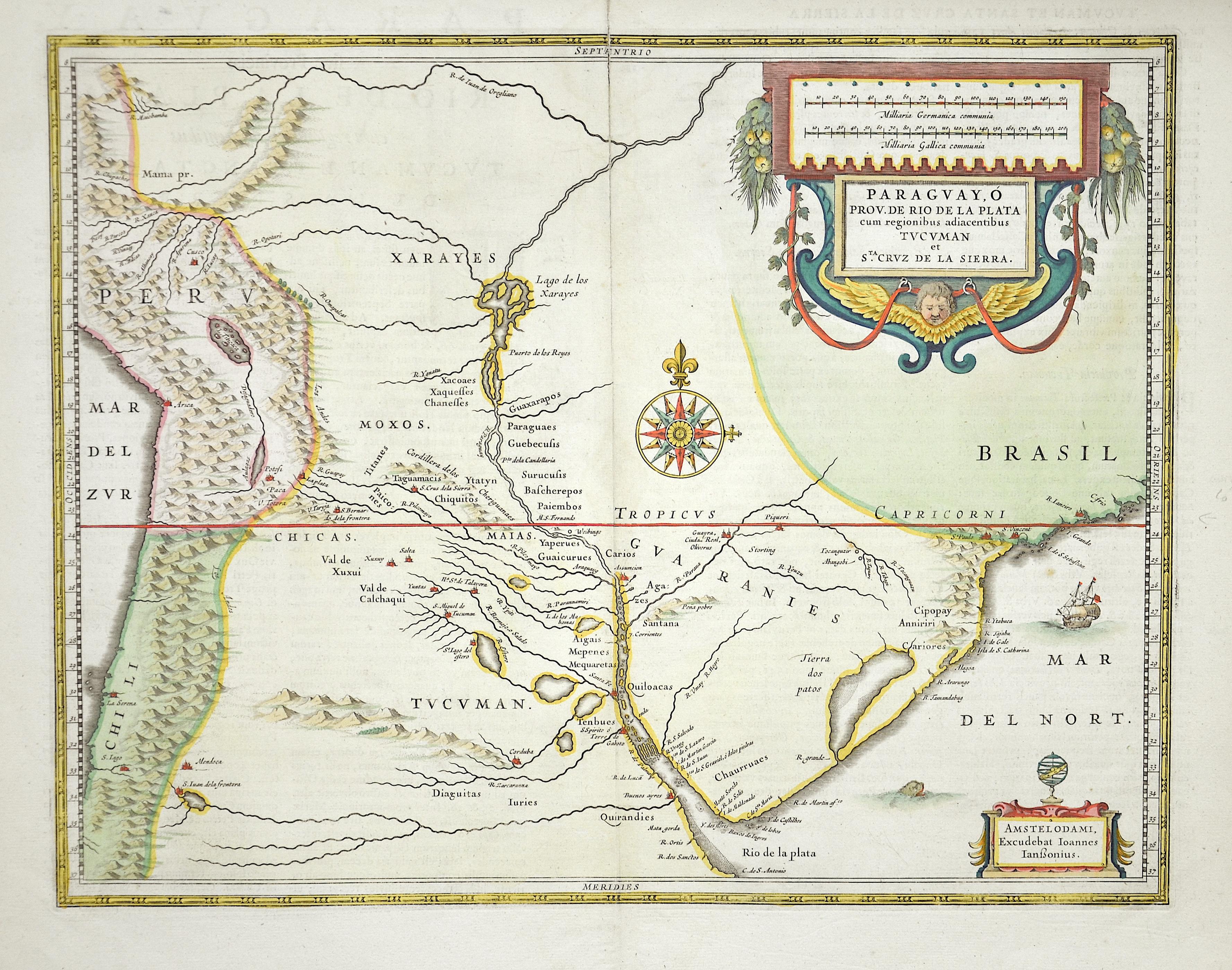 Janssonius  Paraguayo Prov. de Rio de la Plata…