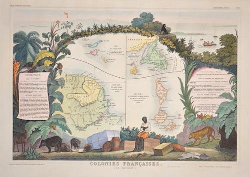Lemercier / Levasseur  Colonies Francaises en Amerique