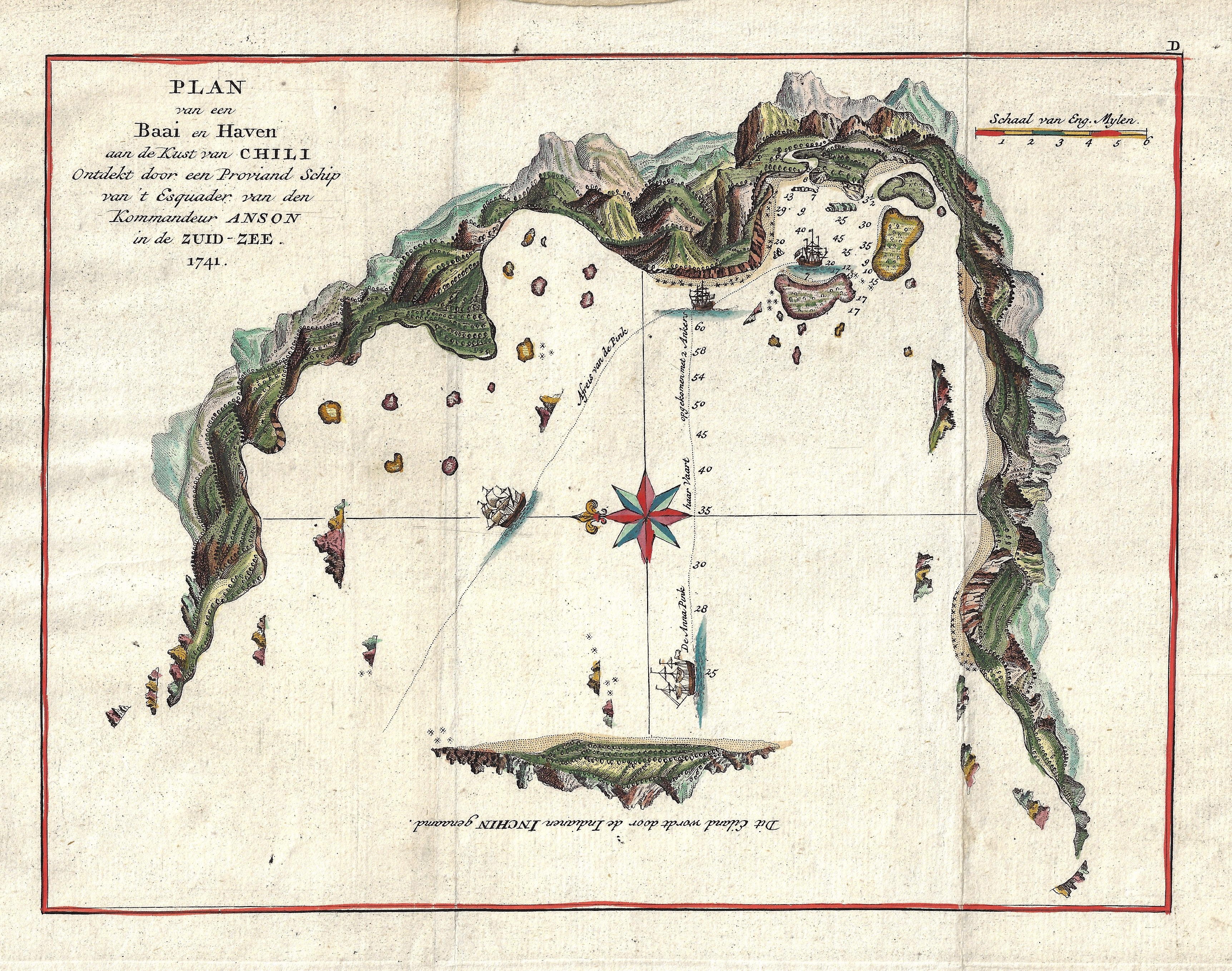 Anson  Plan od a Bay and Harbour on the Coast of Chili