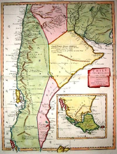 Zatta  Chili la Terra Magellanica coll´ isola della terra del Fuoco