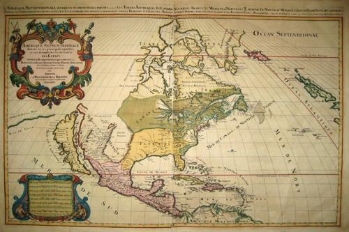 Jaillot  Amerique Septentrionale divisee en ses principales parties, ou son distingues les vns des autres les Estats….