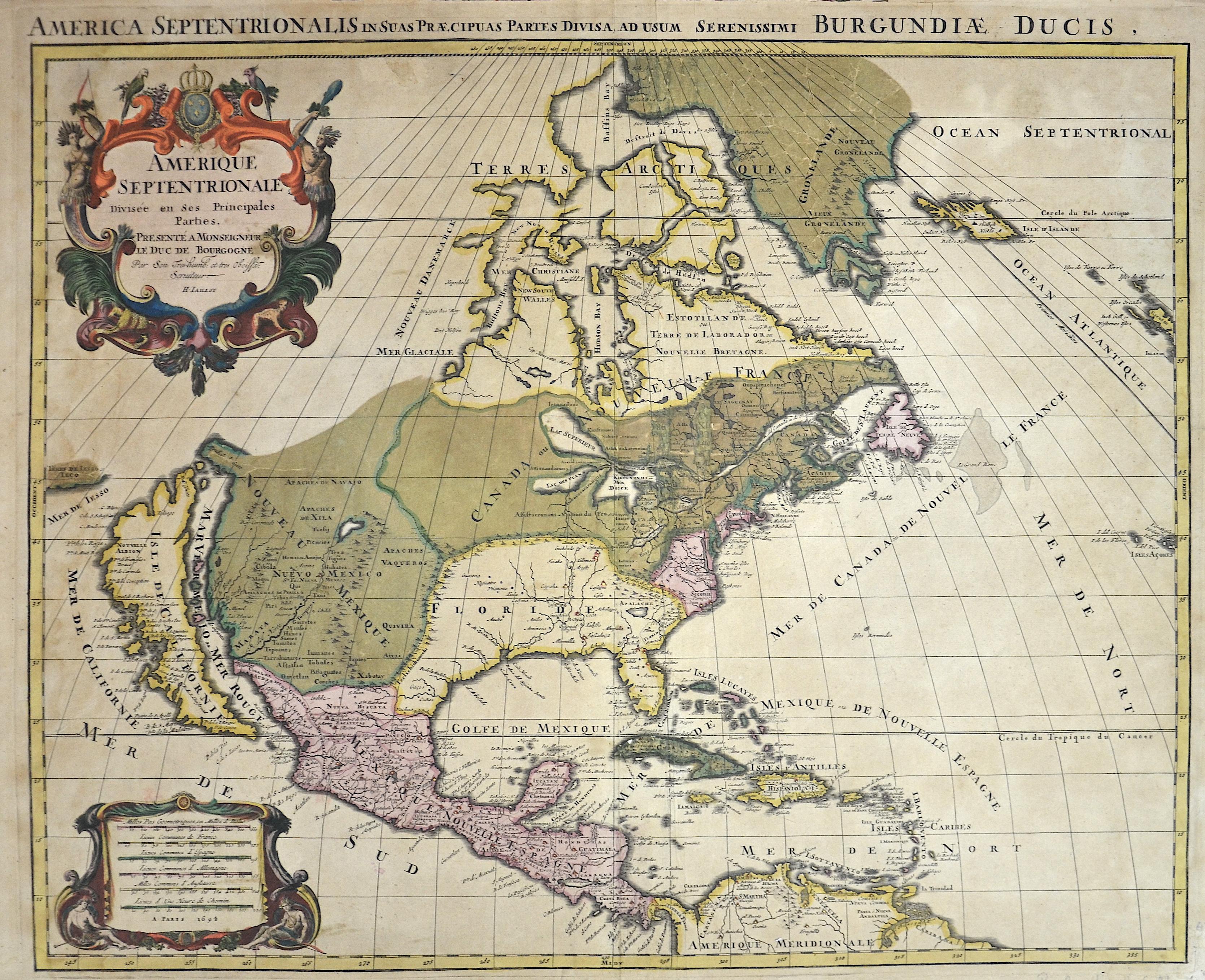 Jaillot  Amerique Septentrionale divisée en ses Principales