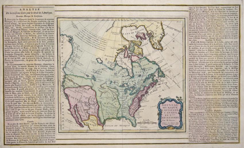 Desnos  Nouveau Mexique, Louisiane, Canada, et Nlle. Angleterre. Par M. Brion.