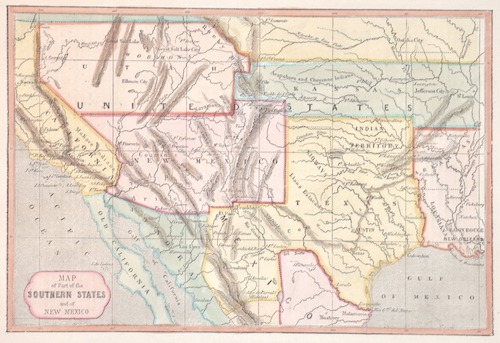 Antique Map - Anonymus - Map of Part of the Southern States ...