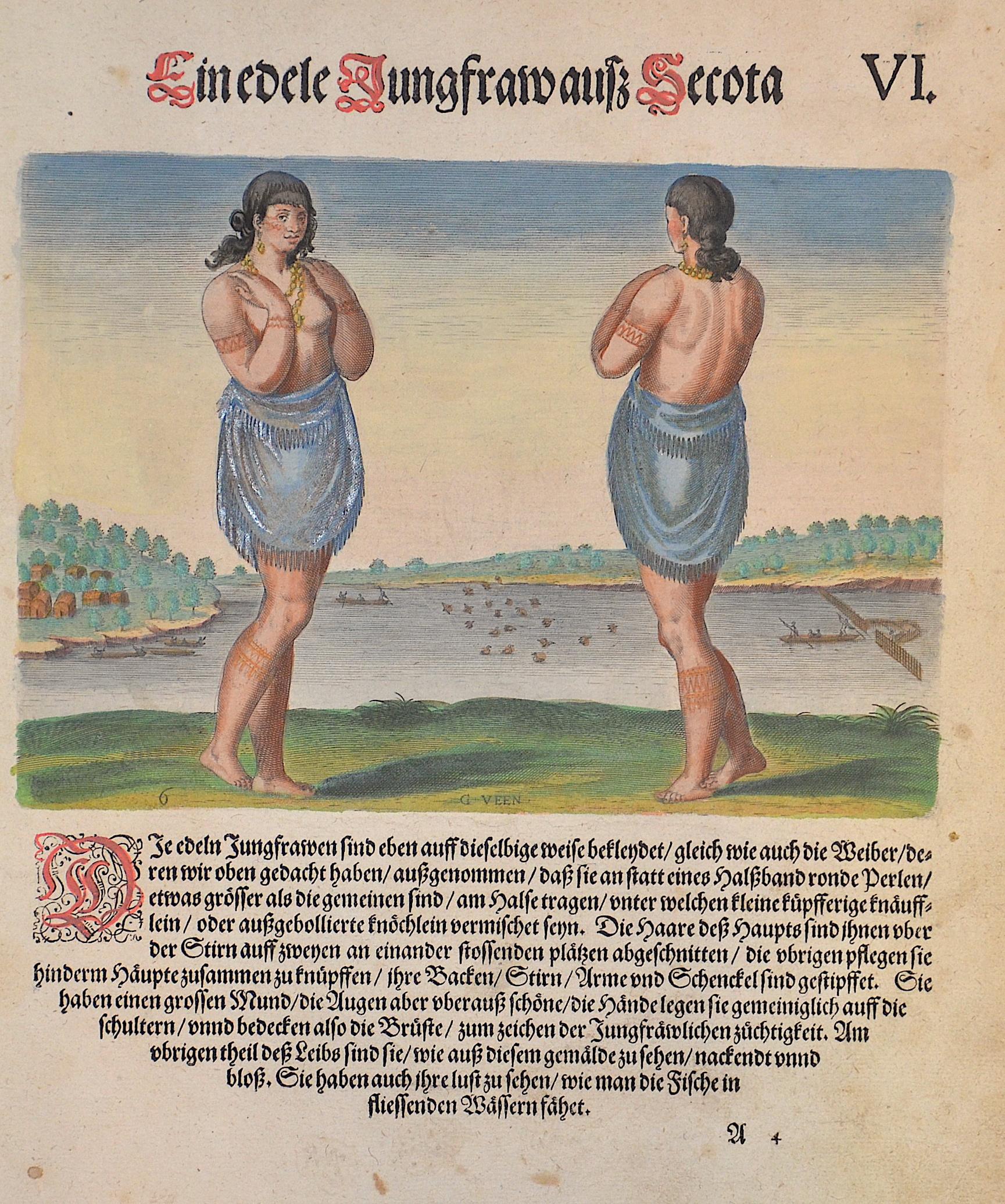 Bry, de  V. Ein edele Jungfraw auß Secota.