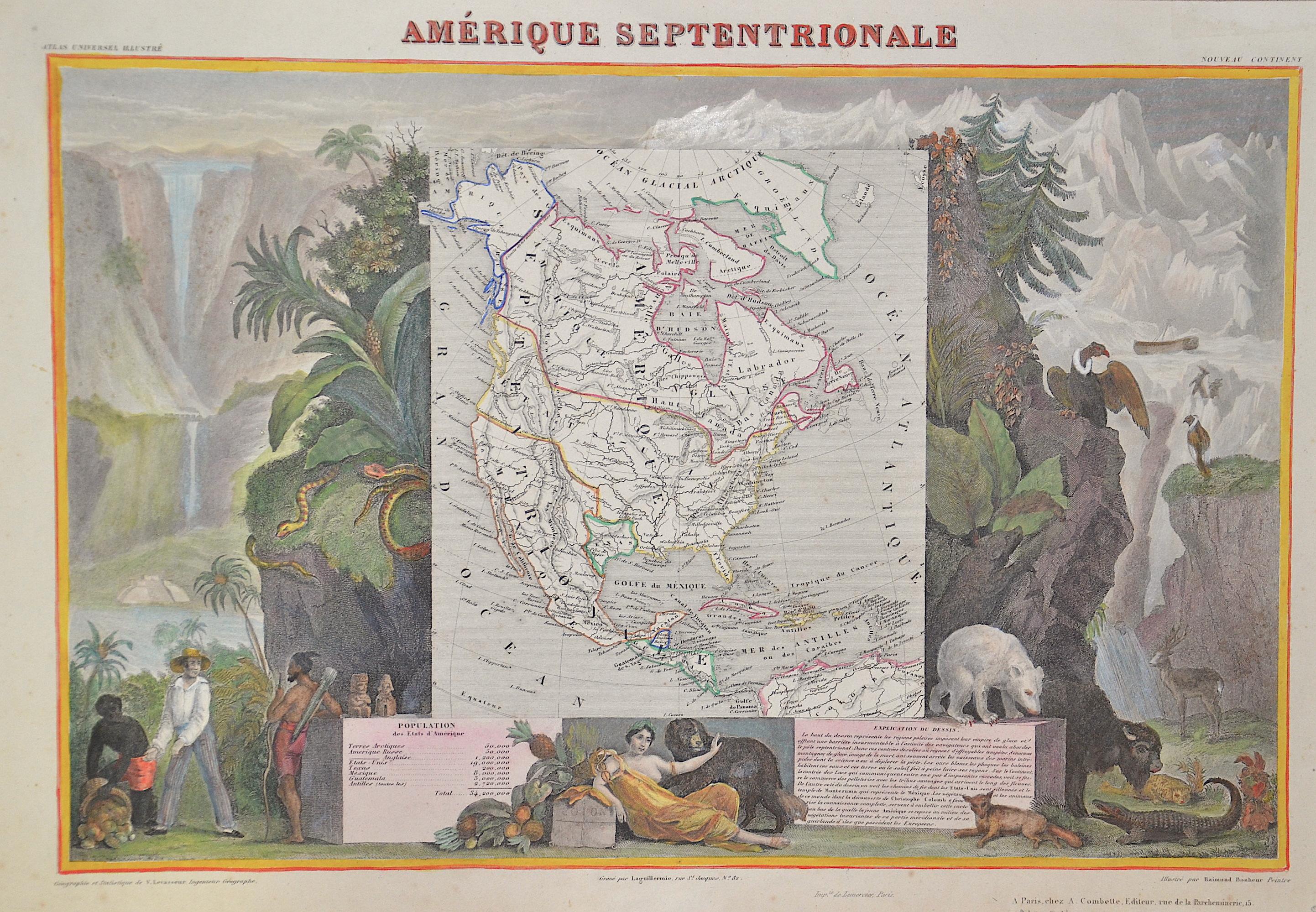 Lemercier / Levasseur  Amerique septentrionale