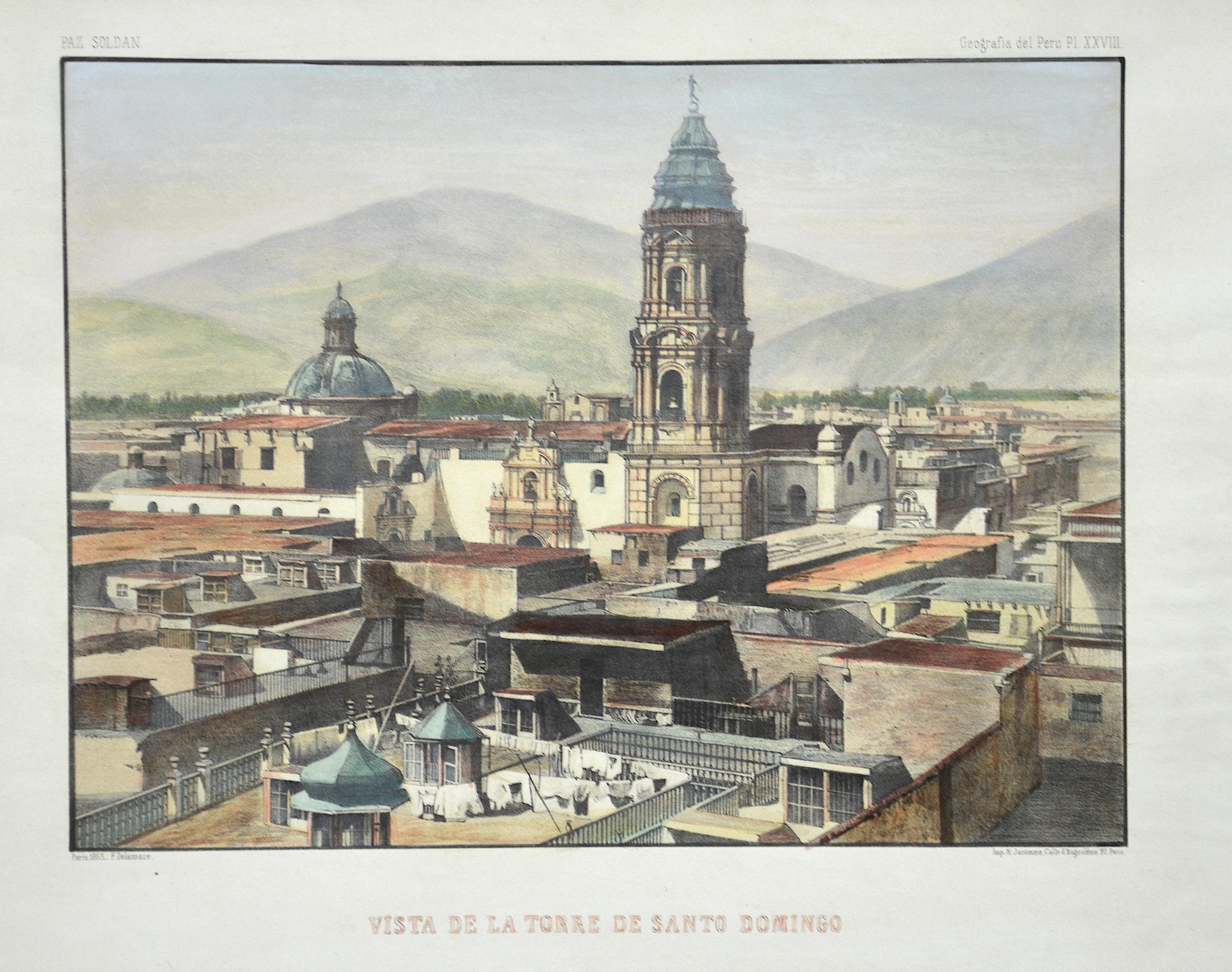 Delamare  Vista de la Torre de Santo Domingo
