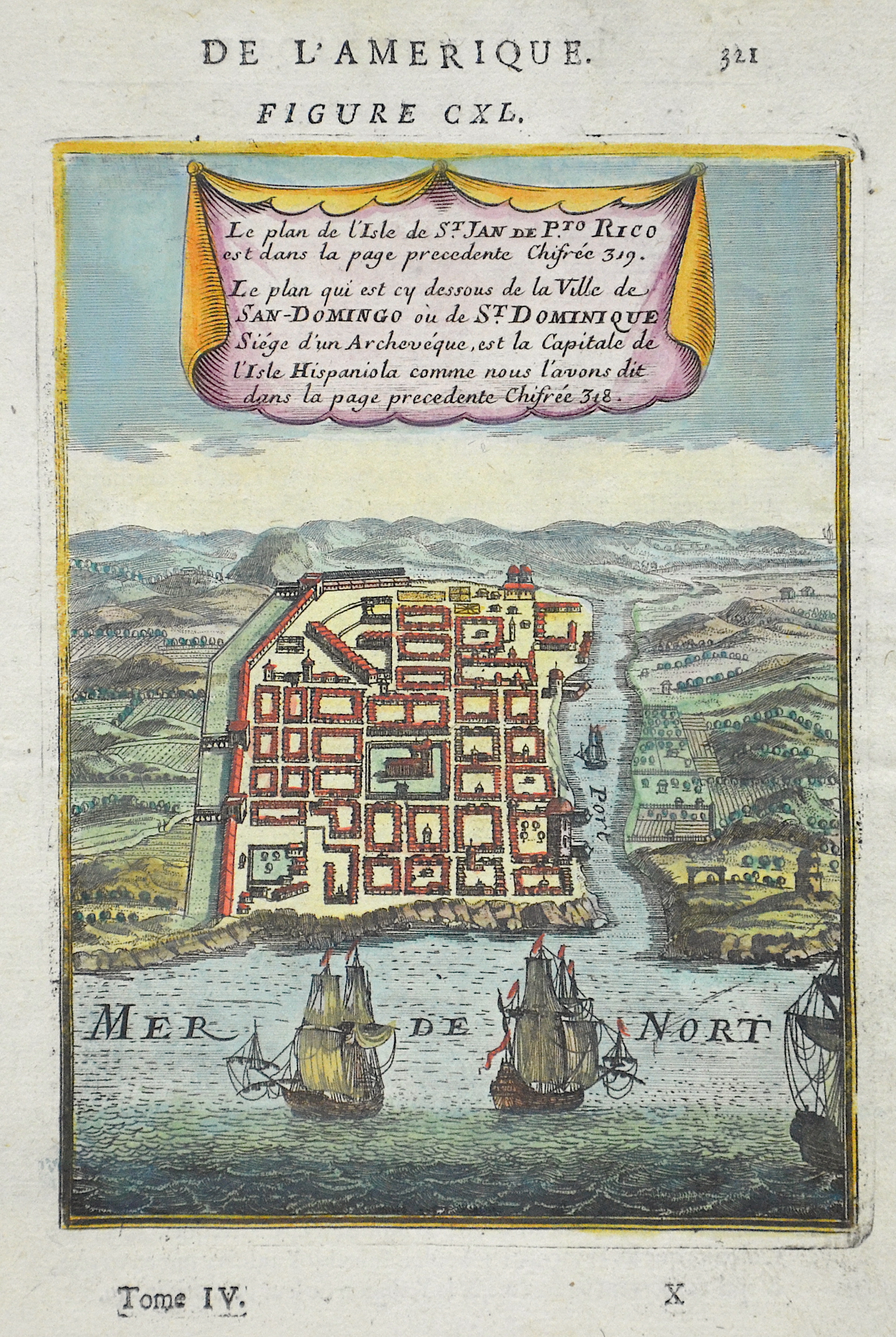 Mallet  Le plan qui est ci dessous de la ville de San Domingo ou de St. Dominique…