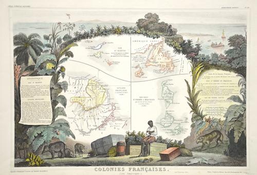 Lemercier / Levasseur  Colonies Francaises (en Amerique)