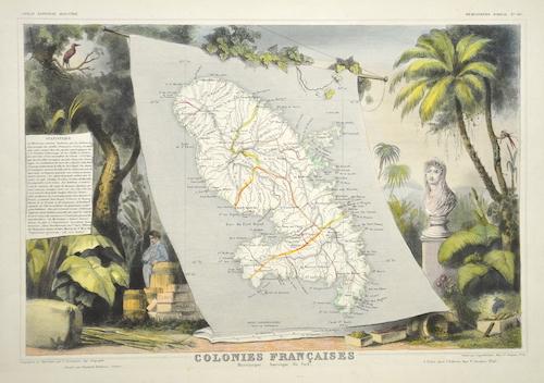 Lemercier / Levasseur  Colonie Francaises. Martinique. Amerique du sud.
