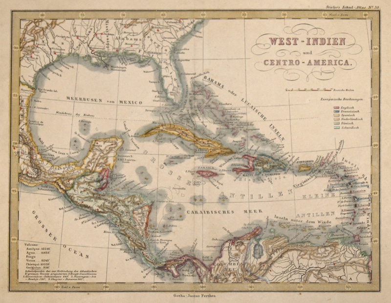 Stieler Joseph Karl West-Indien und Centro-America.