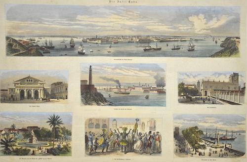 Blanchard P. Die Insel Cuba. General-Ansicht der Stadt Havanna…