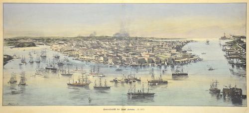Lauta, after  Generalansicht der Stadt Havana.