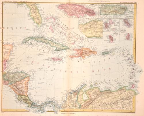 Stieler Joseph Karl Petermann: West-Indien in 4 Blättern, Bl. 4.